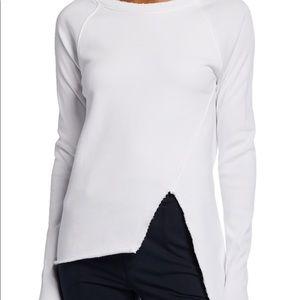 Frank & Eileen Asymmetrical White Sweatshirt